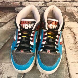 Osiris Multicolored Blue Silver Black Slater Shoes